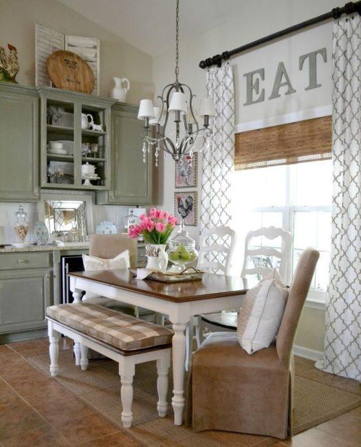 Форма шторы влияет на визуальное восприятие пространства