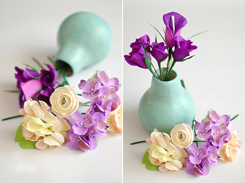 Изготовленные цветы почти не отличить от настоящих