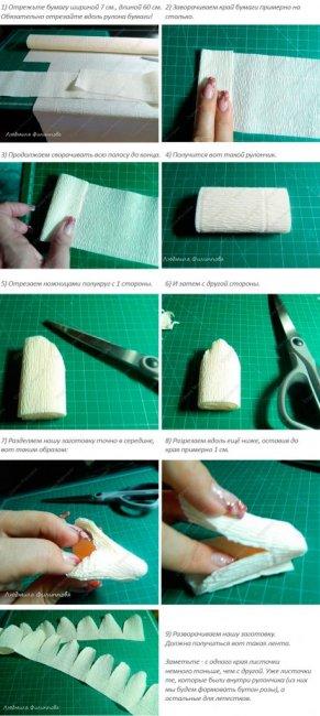 Заготовки для лепестков