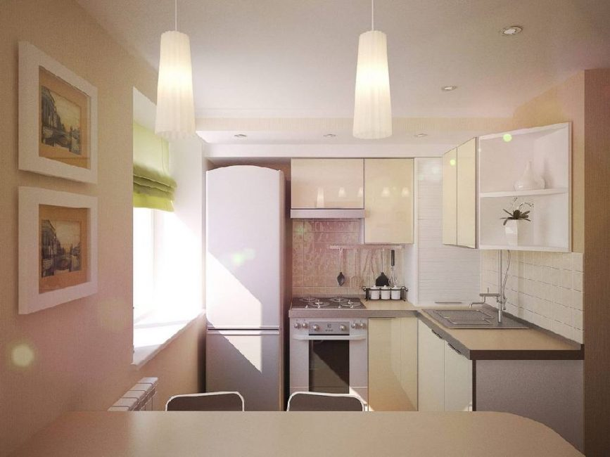 Дизайн маленькой бюджетной кухни