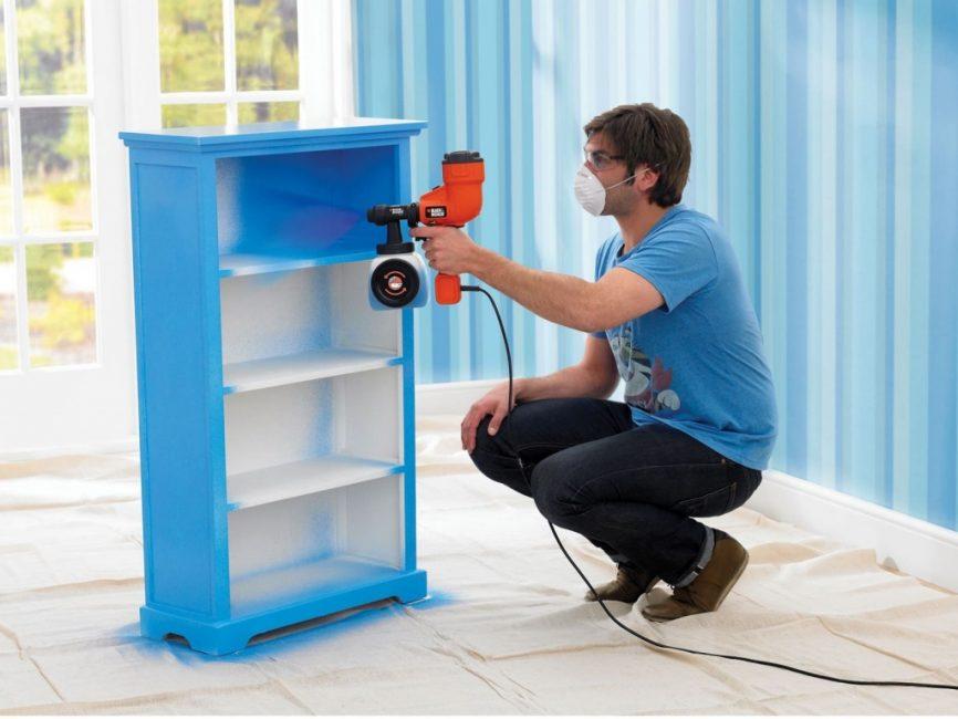 Покраска мебели в тон всего интерьера