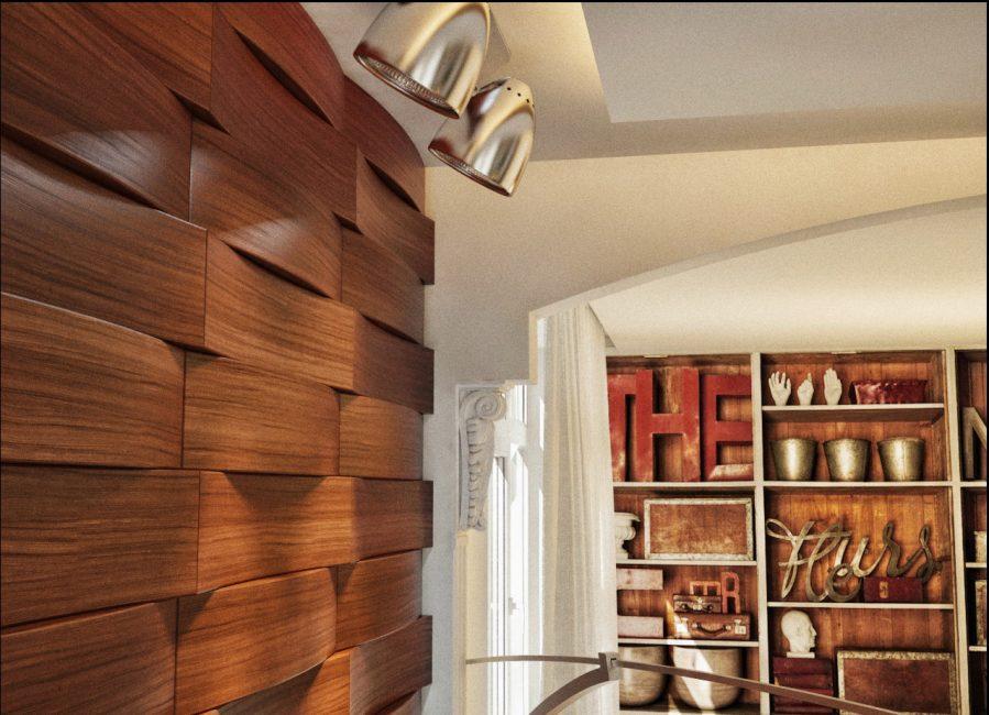 Ламинированные панели в интерьере комнаты