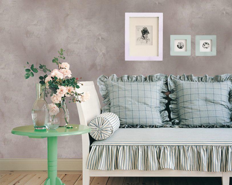 Отделка стен декоративной штукатуркой в любом помещении