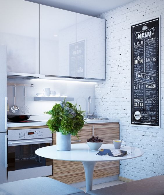 Дух минимализма в кухне-малютке
