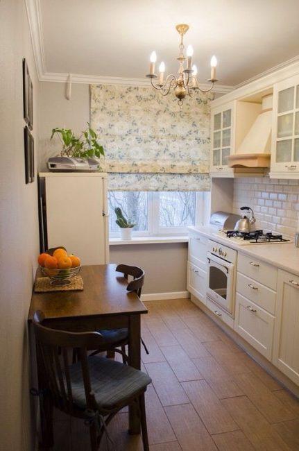 Светлая кухня - легкая уборка