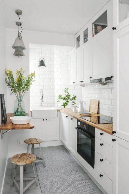 Покупка специальной мебели для маленькой кухни