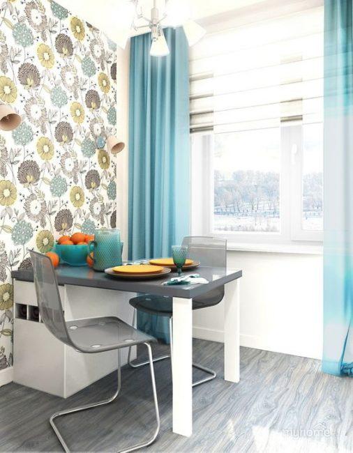 Многофункциональные шторы на кухне