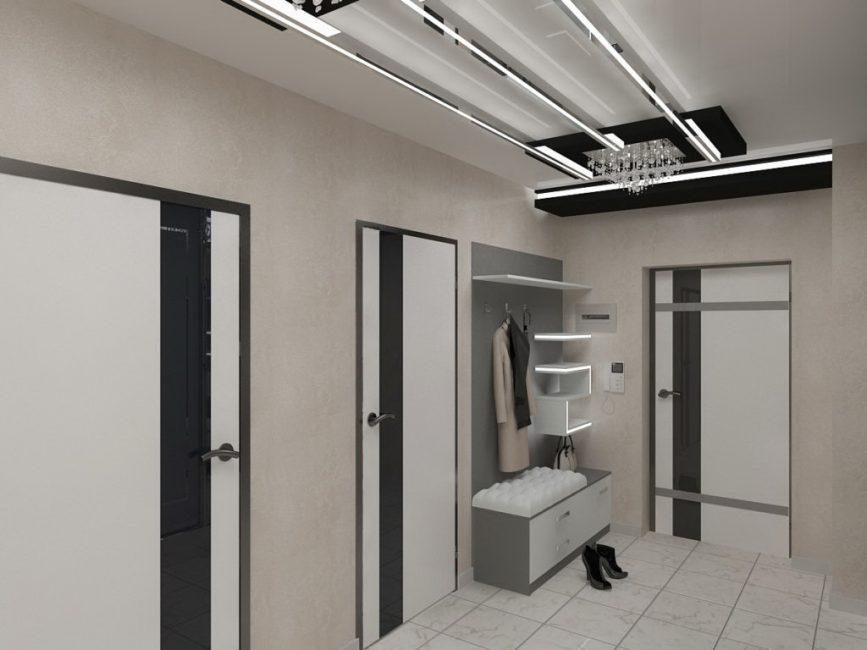 Оформите потолок в едином стиле