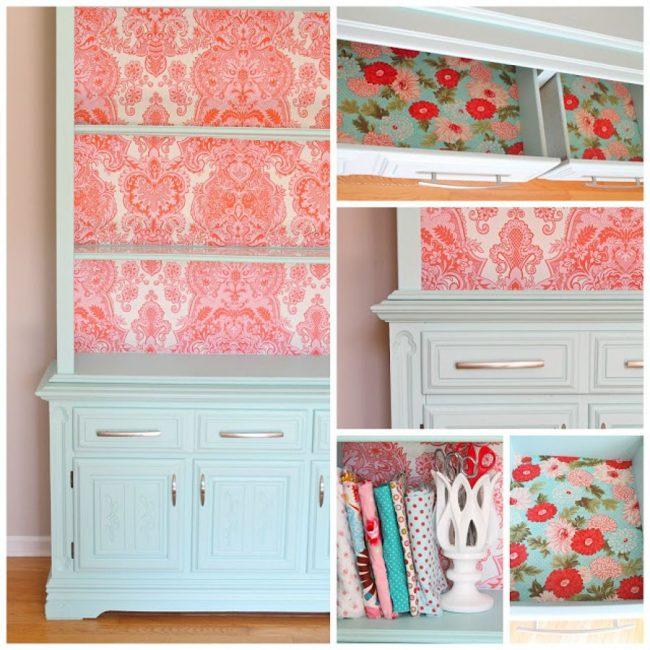 Реставрация старого шкафа с декорированием стенки