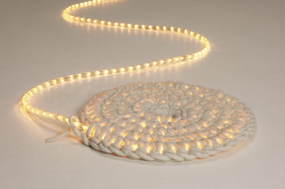 Жгутовый коврик с подсветкой