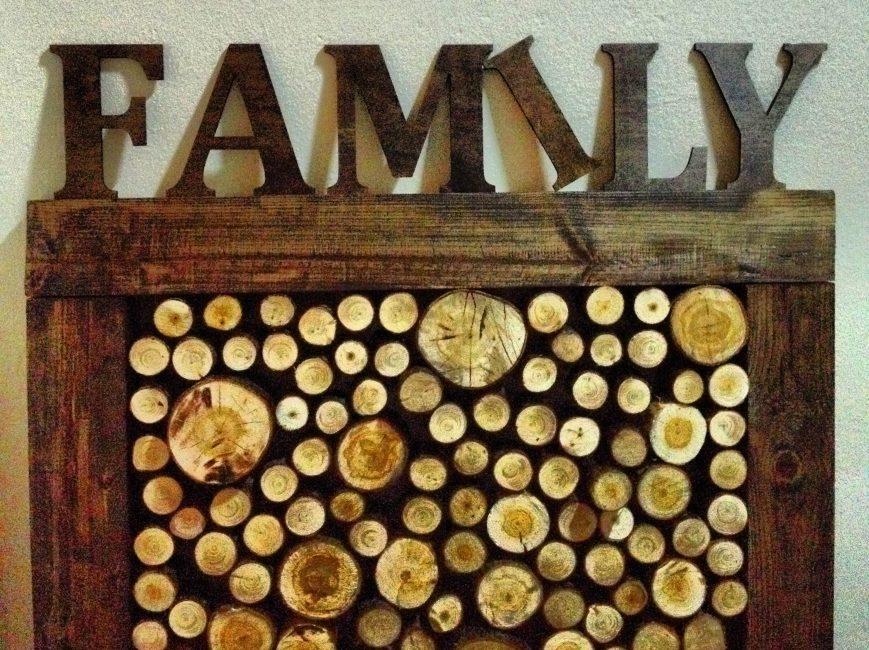 Рамка для фото из коры дерева