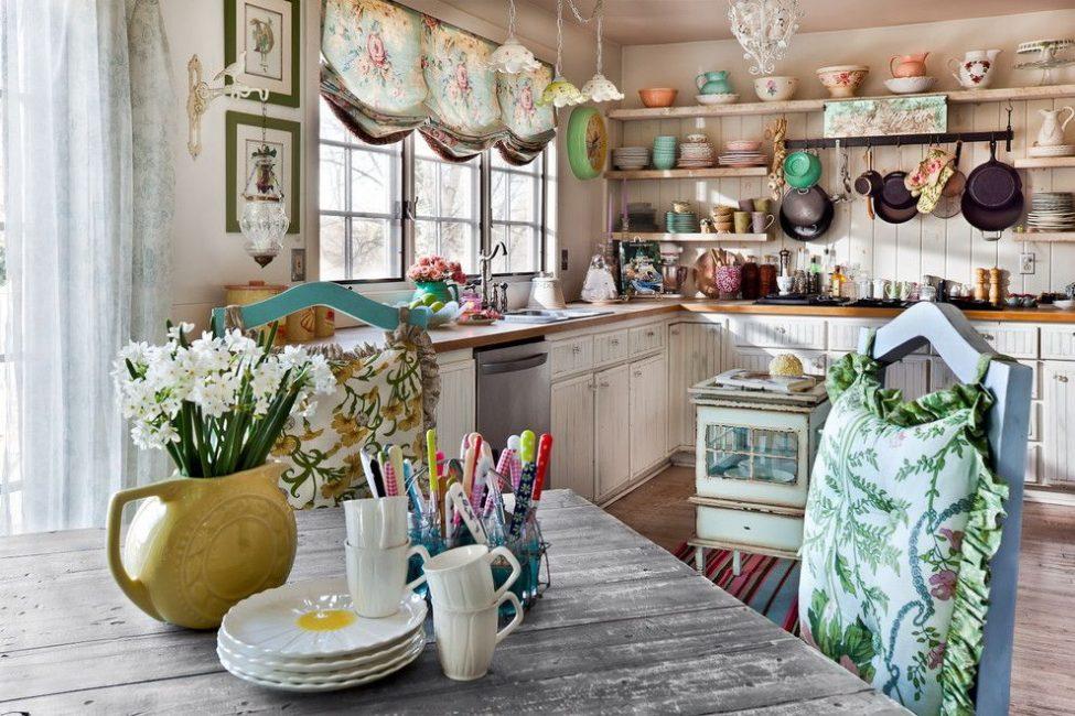 Флористический дизайн в интерьере кухни