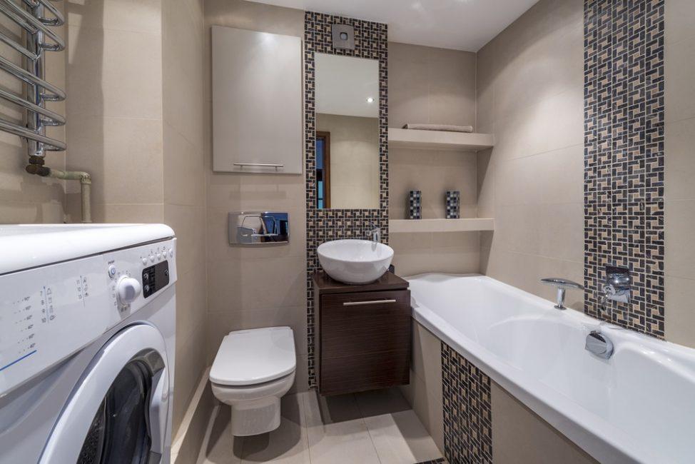 Точечный декор в интерьере ванной