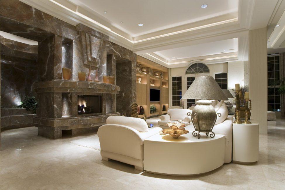 Матовая поверхность в дизайне классического интерьера