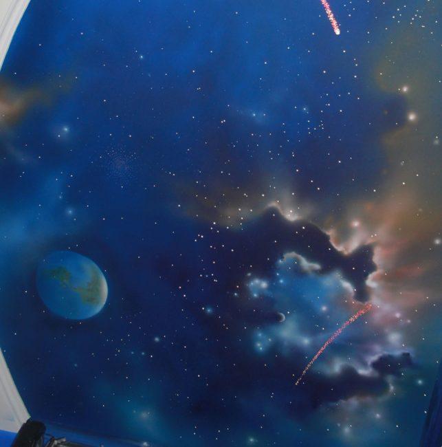 Эффект звездного неба при направленном освещении