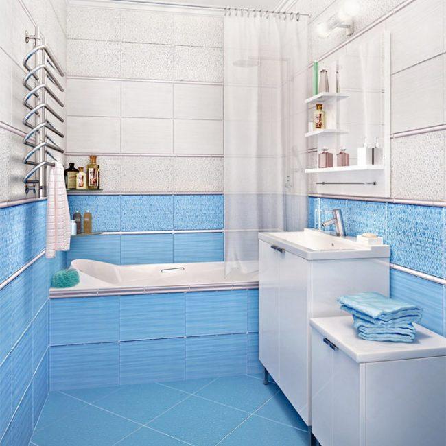 Резкие контрасты цвета для увеличения комнаты