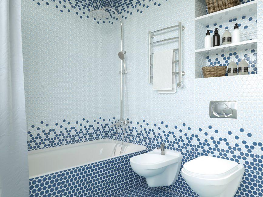Необычная плитка для создания уютной ванной