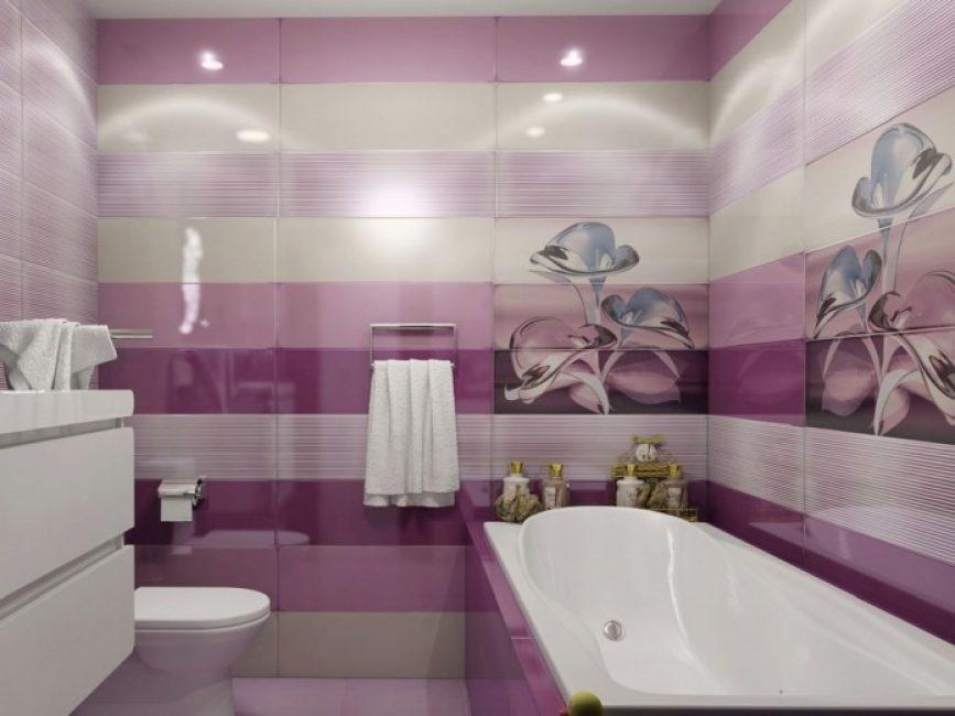 Розовый с нежно-фиолетовым - как один из вариантов в интерьере