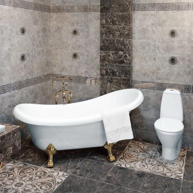 Бордюры с рисунком в вашей ванной
