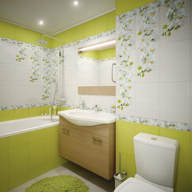 Зеленоватые оттенки в гармонии с белым цветом