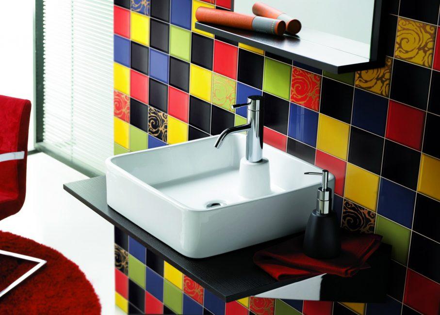 Выбирайте различную фактуру, текстуру и расцветку для вашей ванной