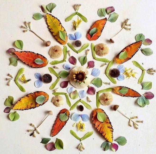 Абстракция листьев осени