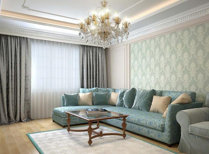 Натуральные ткани в интерьере комнаты