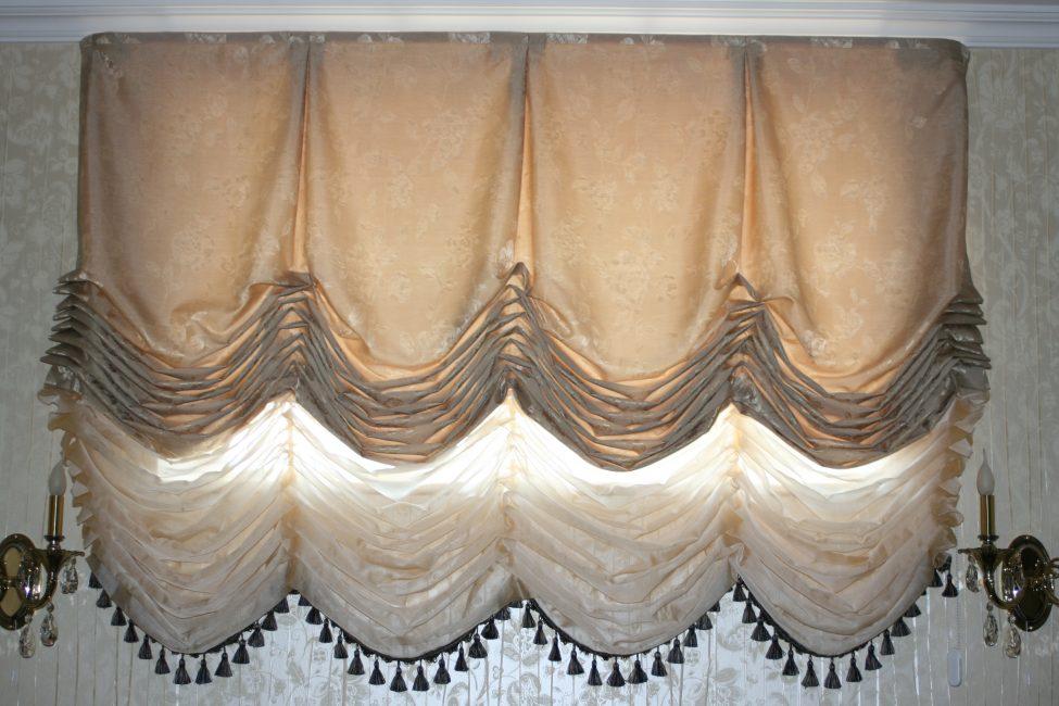 Французские шторы состоящие из нескольких полотен