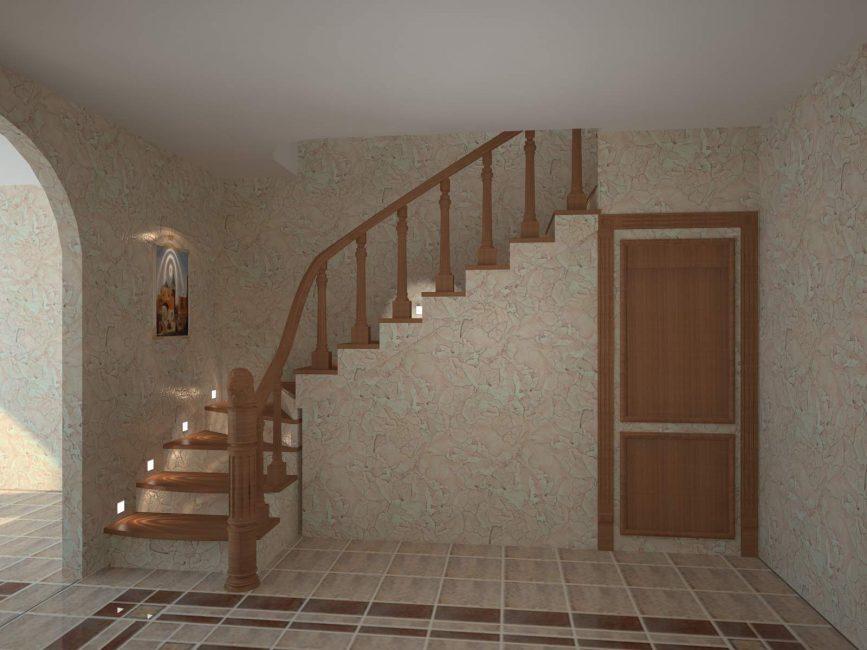 Деревянная доска оптимальное решение для лестницы