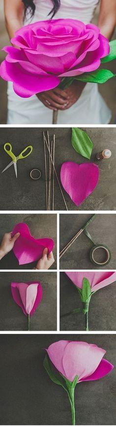 Изготовление розы