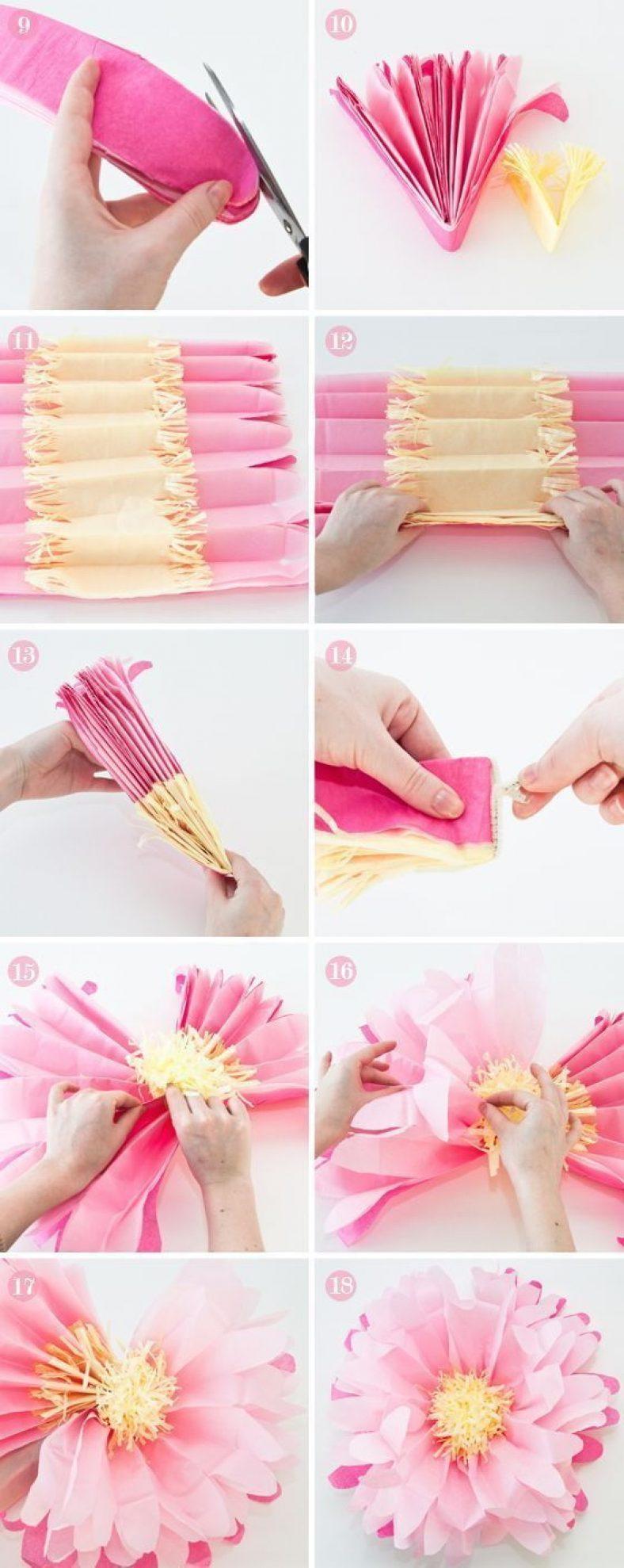 Как сделать красивые цветы из бумаги своими руками фото
