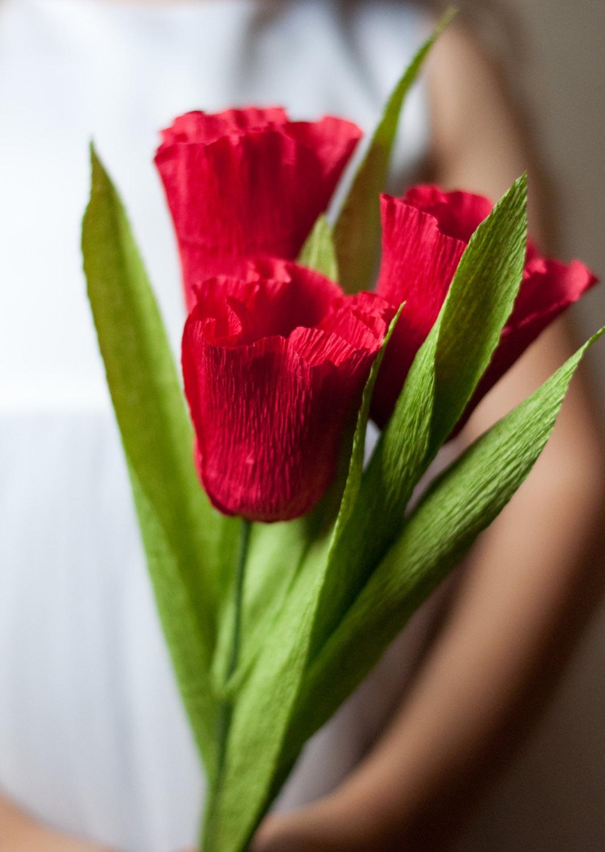 Как сделать букет тюльпанов из гофрированной бумаги