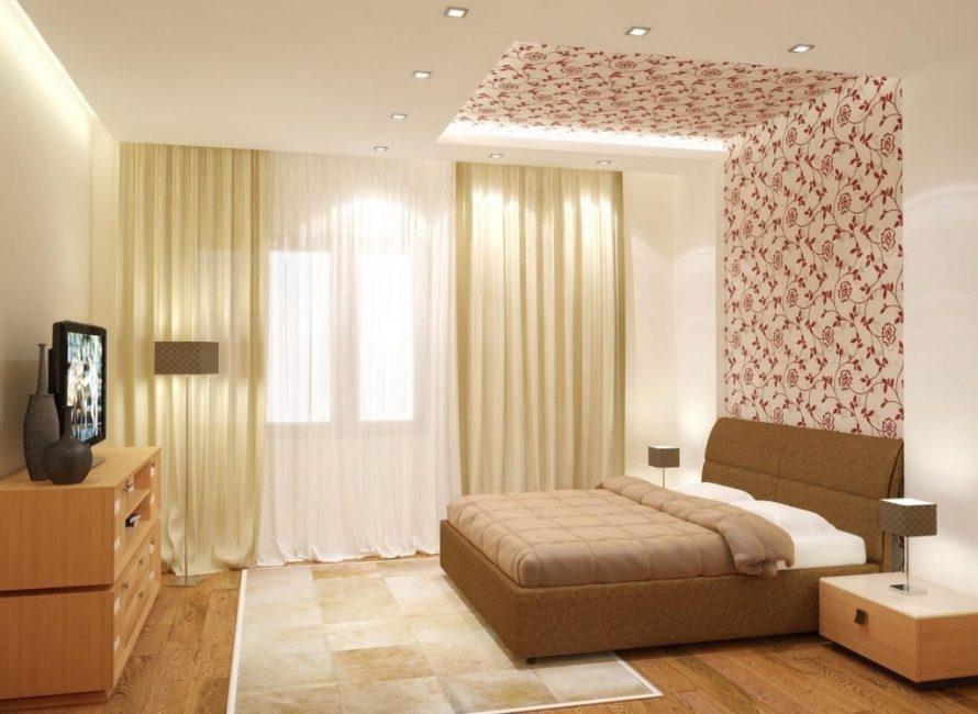 Идеальное сочетании нюдовых оттенков в спальне