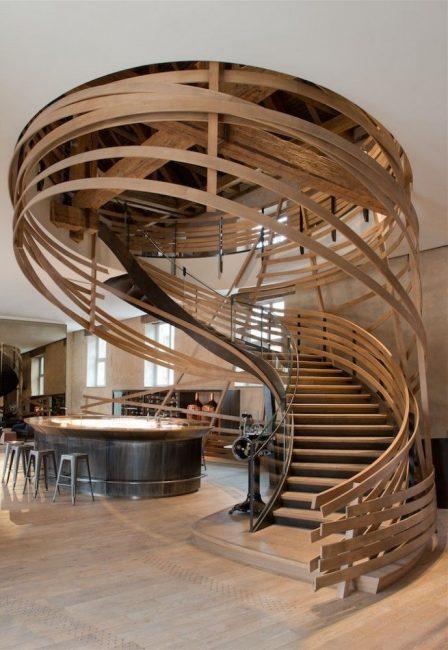 Обворожительная конструкция в помещении