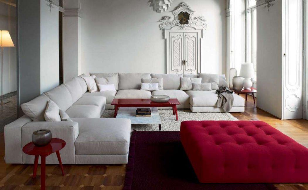 Модульный диван - успешный и красивый прием