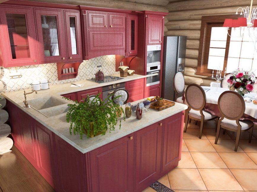 Много места позволяет разграничивать и столы и обеденную зону