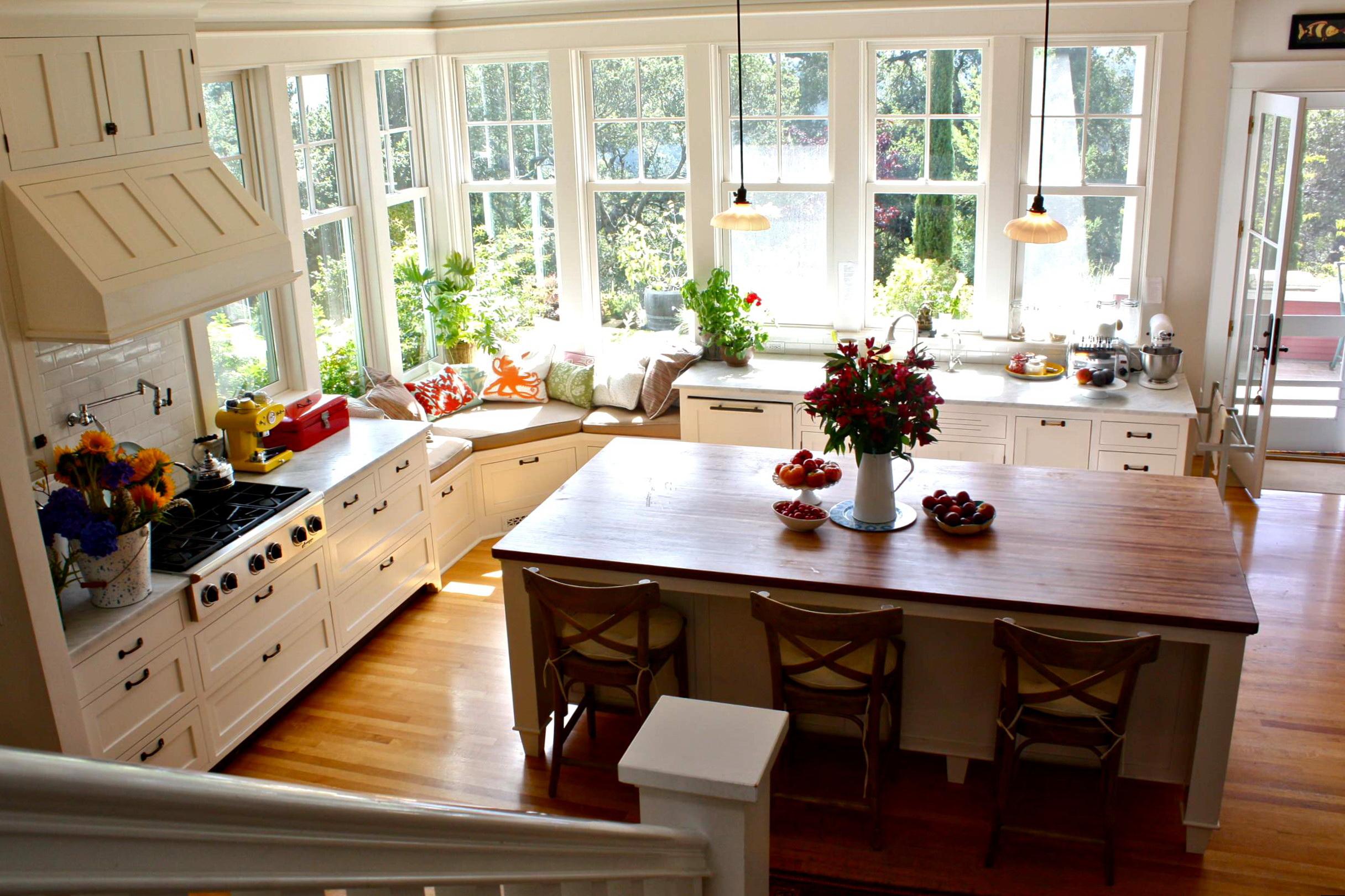 Ремонт на кухне в своем доме своими руками фото