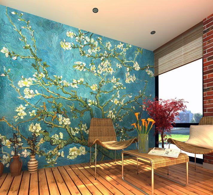Посмотрите как преобразилась комната с помощью растительной тематики