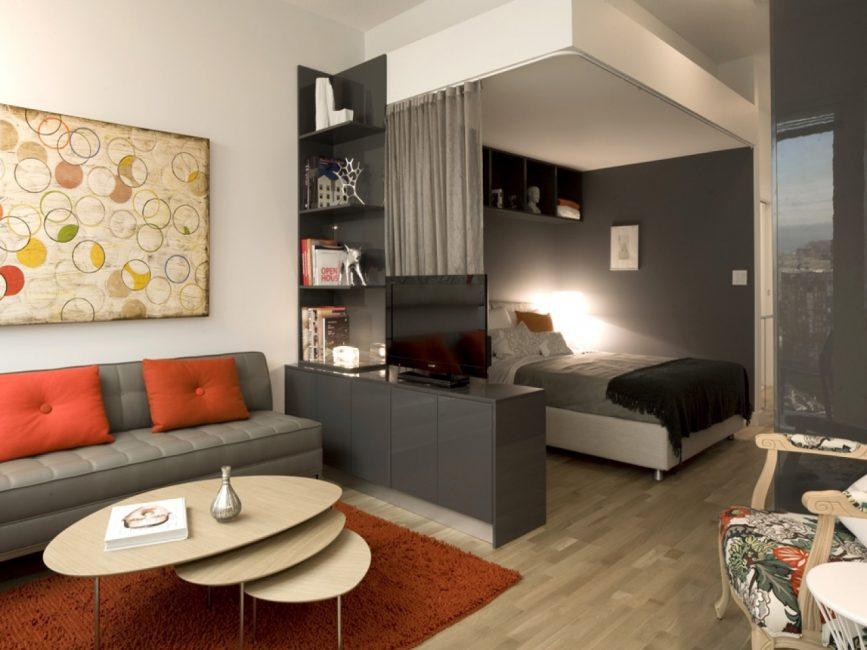 Удобное меблирование в одной комнате