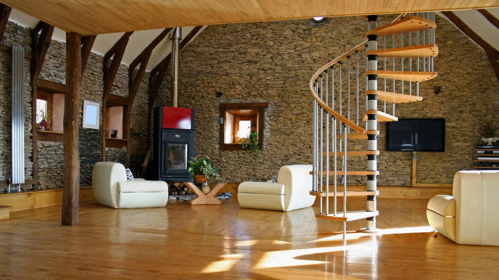 Интерьер пола в деревянном доме фото