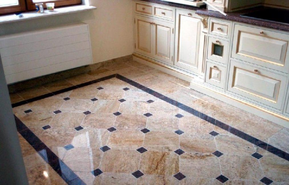 Узорчатая напольная плитка придаст полу на вашей кухне шарм и стиль.