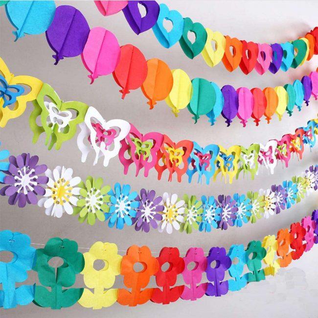 Можно сделать из разноцветной бумаги