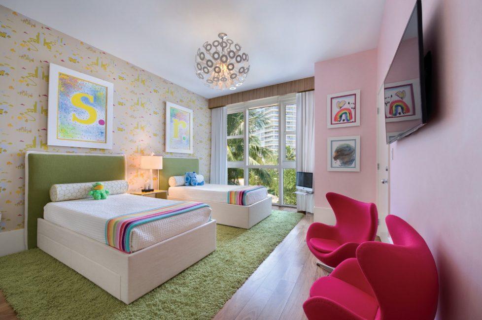 Интересное воплощение нескольких цветов в одной комнате