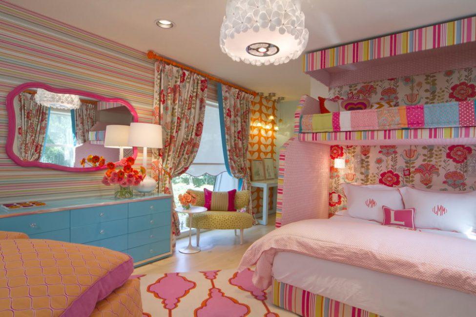 Розовая мечта любой девочки - красивая комната