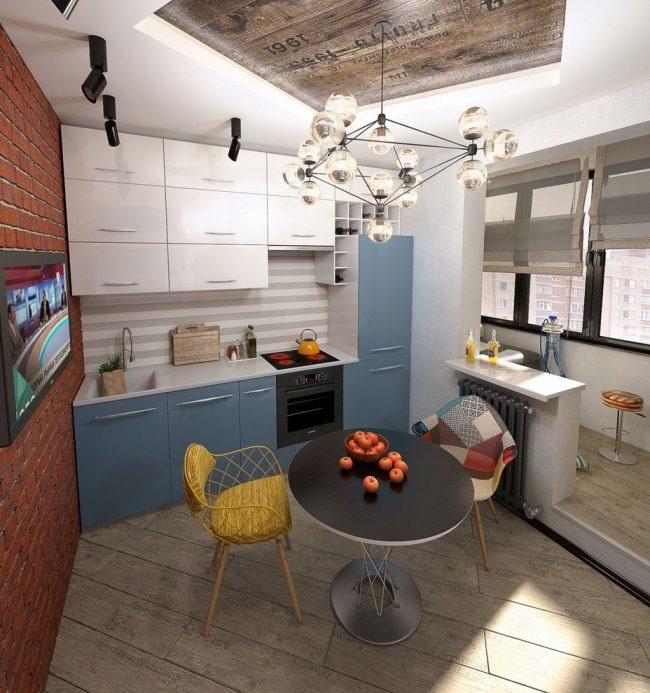 Когда маленькая кухня, и дополнительное пространство как нельзя кстати