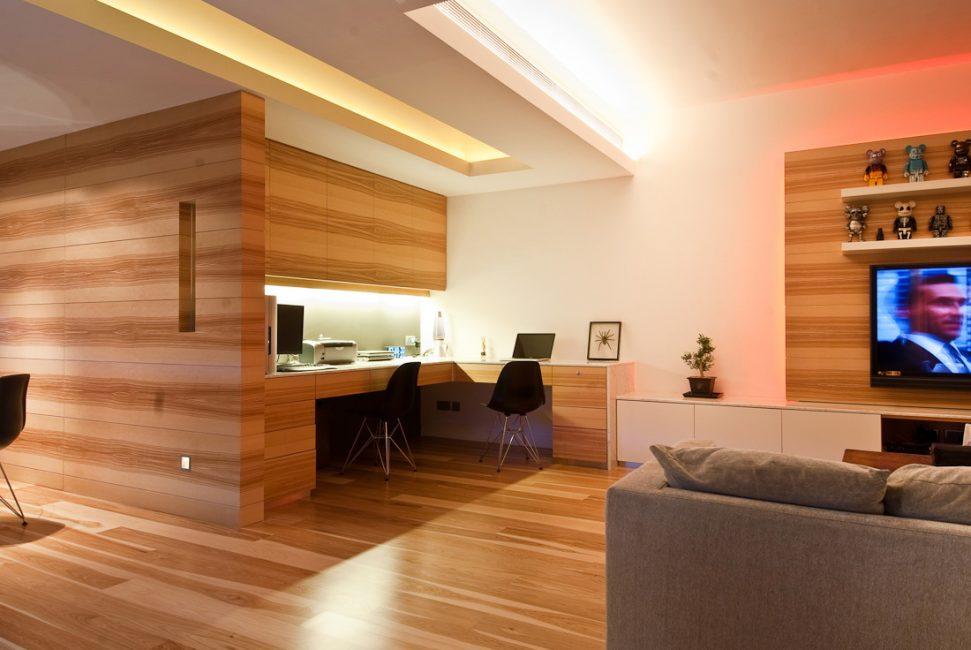 Яркий дизайн комнаты для гостей
