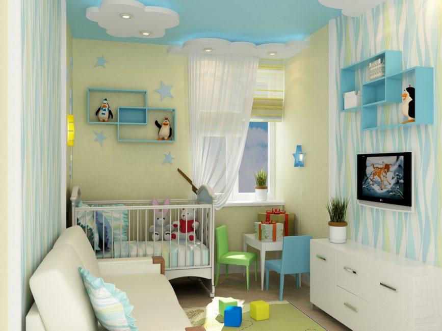 Для новорожденного лучше выбирать спокойные оттенки