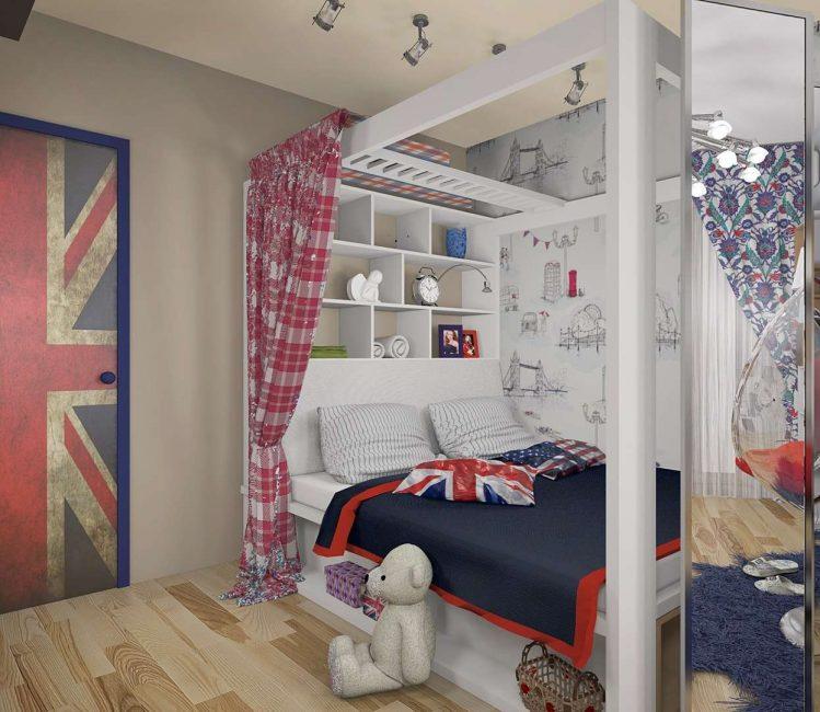 Маленькую комнату лучше не перегружать большим количеством мебели