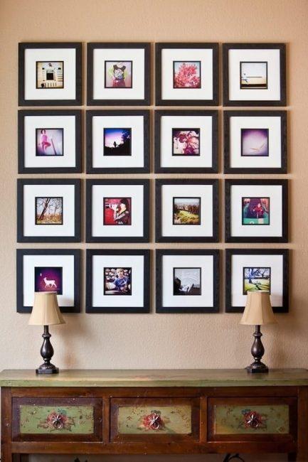 Оживляем интерьер с помощью картин и семейных фото