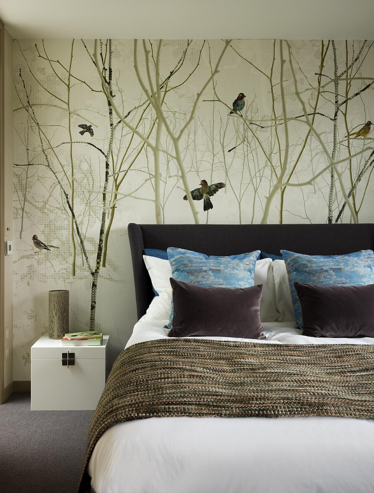 Светлые обои в спальню - 100 фото лучших идей сочетания в спальне | 1695x1288
